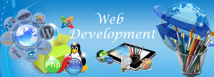 Web Development Banner Creative World Solution